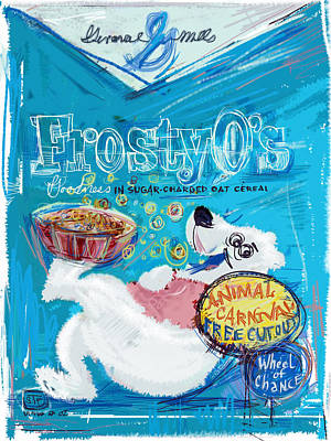 Mixed Media - Frosty Os by Russell Pierce