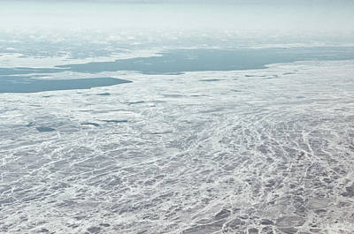 Frozen And Ice Covered Gulf Of Finland Print by Photography by Oleg Pulemjotov (Photogruff)