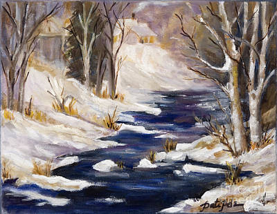 Painting - Frozen Colorado Creek by Pati Pelz