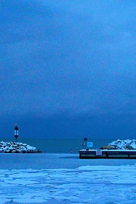 Photograph - Frozen Docks by Cyryn Fyrcyd