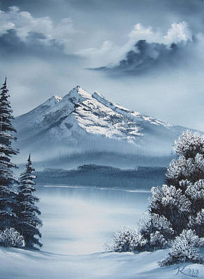 Frozen Mountain Art Print by Kevin Hill