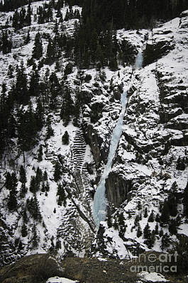 Photograph - Frozen Waterfall by David Waldrop