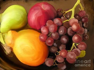 Fruit Aplenty Art Print by Anne Ferguson