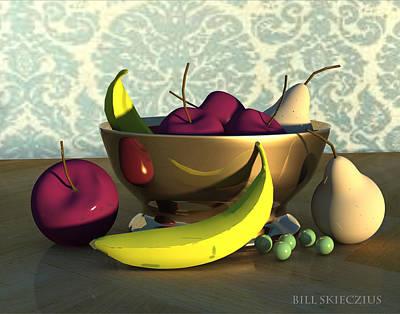 Fruit Bowl With Bananas Original