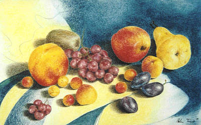 Fruit Art Print by Helene Schmittgen