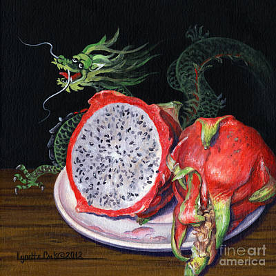 Painting - Fruit Of The Dragon by Lynette Cook