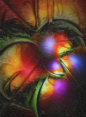 Fractal Orbs Digital Art - Fruit Of The Forest by Amanda Moore