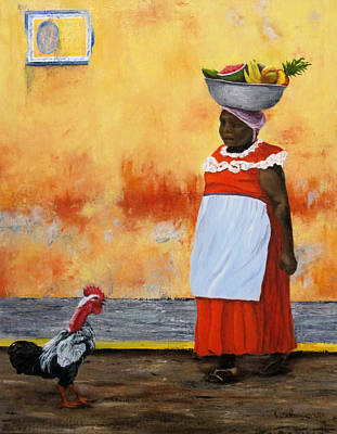 Painting - Fruit Seller by Roseann Gilmore