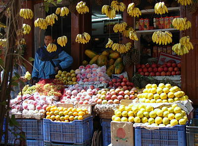 Photograph - Fruit Selling In Nepal by Anand Swaroop Manchiraju