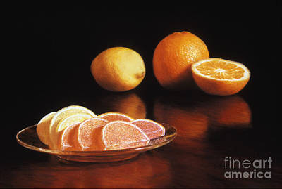 Candy Painting - Fruit Slices by Barbara Groff
