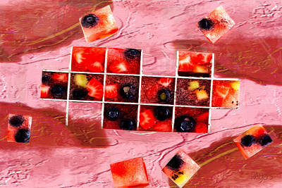 Photograph - Fruit Square Ups by Paula Ayers