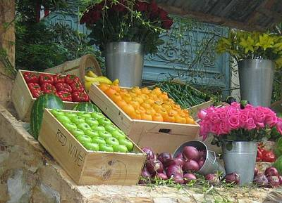 Photograph - Fruit Stand by John Shiron