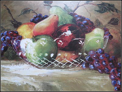 Fruit Still-life  Art Print by Kay Novy