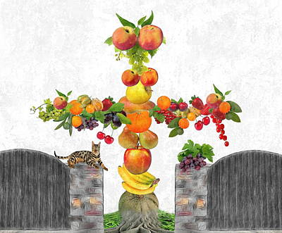 Fruit Tee Art Print by Manfred Lutzius