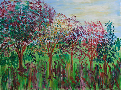 Painting - Fruit Trees by James Bryron Love