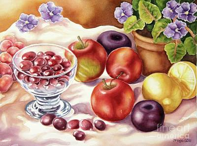 Fruits And Berries Art Print by Inese Poga