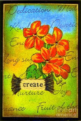 Mixed Media - Fruits Of The Spirit by Angela L Walker