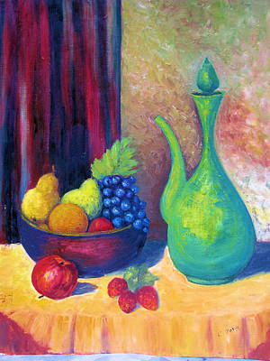 Etc. Painting - Fruits-still Life by HollyWood Creation By linda zanini
