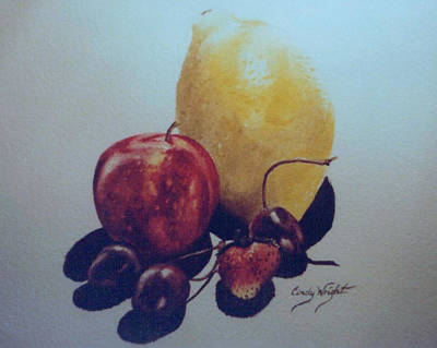 Painting - Fruity Watercolor Painting by Cindy Wright