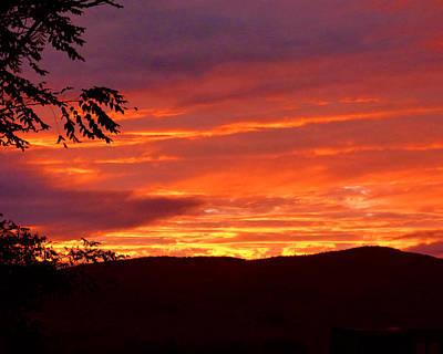 Photograph - Fryeberg Sunset by Ann Tracy