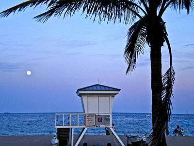 Ft. Lauderdale Full Moon Original by Cheryl Colaw