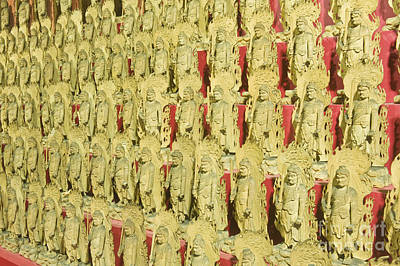 Miyajima Photograph - Fudo Statues by Rob Tilley