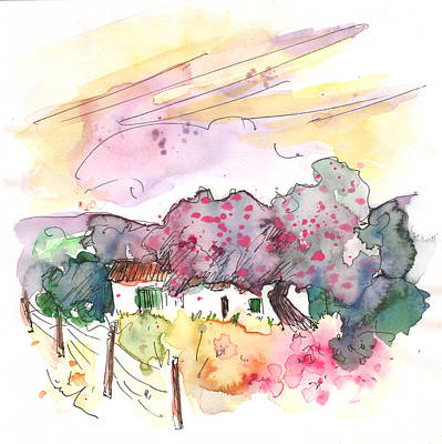 Fence Drawing - Fuente Obejuna 01 by Miki De Goodaboom