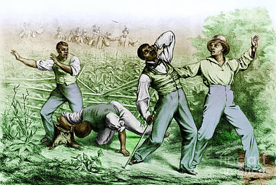 Fugitive Slave Law Art Print by Photo Researchers