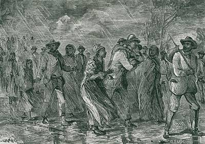 Fugitive Slaves Fleeing From Eastern Art Print
