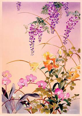 Inks And Watercolour Photograph - Fuji & Juri by Haruyo Morita