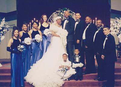 Photograph - Full Bridal Party by Mia Alexander