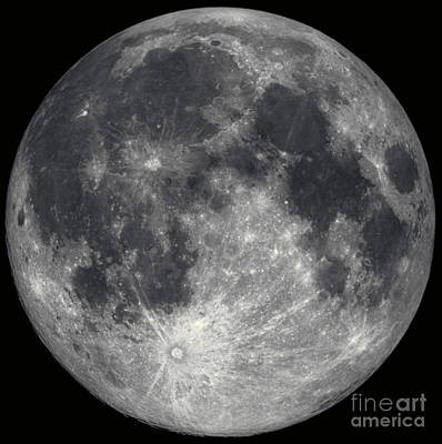 Photograph - Full Moon by Hale Observatories