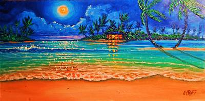 Full Moon Lagoon Art Print by Joseph   Ruff