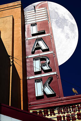 Full Moon Over The Lark - Larkspur California - 5d18489 Art Print