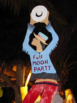Photograph - Full Moon Party by Andrea Linquanti