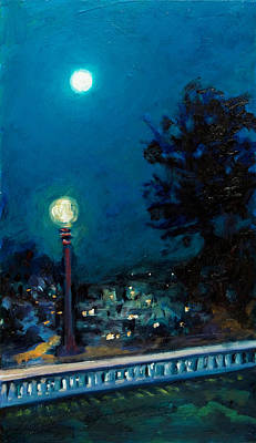 Painting - Full Moon by Rick Nederlof