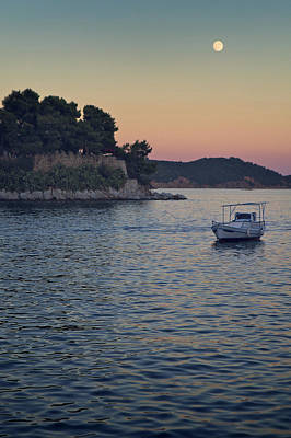 Skiathos Photograph - Full Moon Rising by Dreaming For A Living