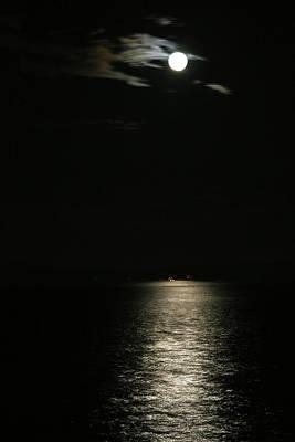 Photograph - Full Moon Shipping Lane by Lorraine Devon Wilke