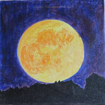 Art Print featuring the painting Full Moon by Sonali Gangane