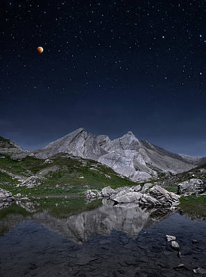 Full Moon To Giants Art Print by © Yannick Lefevre - Photography