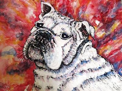 English Bull Dog Mixed Media - Full Of The Devil by DJ Laughlin