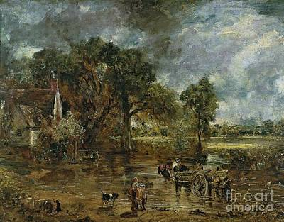John Constable Painting - Full Scale Study For 'the Hay Wain' by John Constable