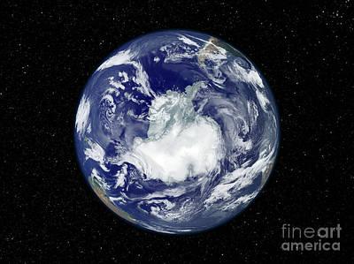 Terrestrial Sphere Photograph - Fully Lit Full Disk Image Centered by Stocktrek Images