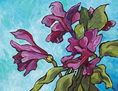 Painting - Fun Flowers by Sandy Tracey