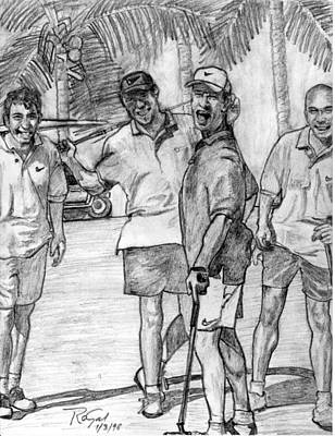 Sports Sketching Drawing - Fun N' Golf Pencil Portrait by Rom Galicia