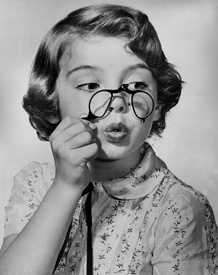 Fun With Pince-nez Art Print by Archive Photos