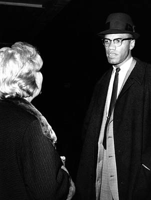 Funeral Of Malcolm X. Betty Little Art Print