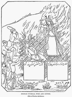 Funeral Pyre Art Print
