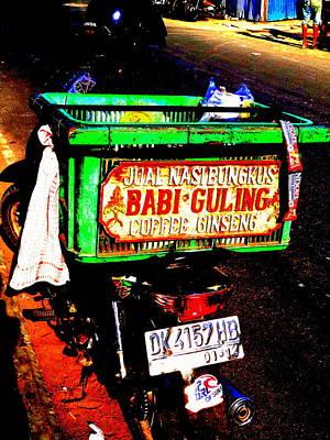Funky Balinese Motorbike Print by Funkpix Photo Hunter