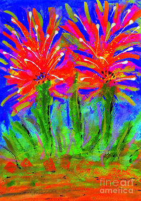 Painting - Funky Flower Towers by Angela L Walker